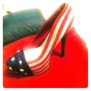 Alba american patriotic pumps redMulti size 9.5
